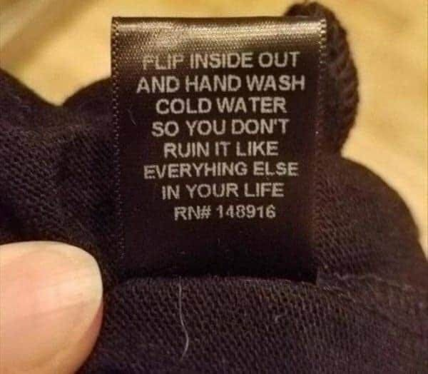 laundry clothing tag funny picture