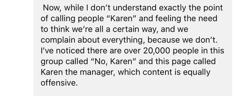 no karen facebook group funny, no karen facebook
