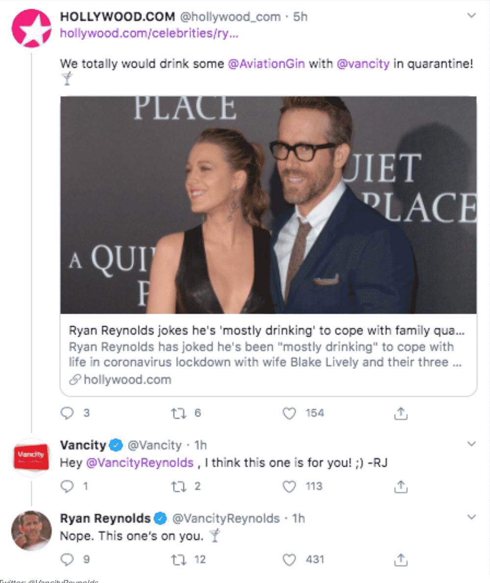 ryan reynolds responds to tweets, ryan reynolds gossip girl