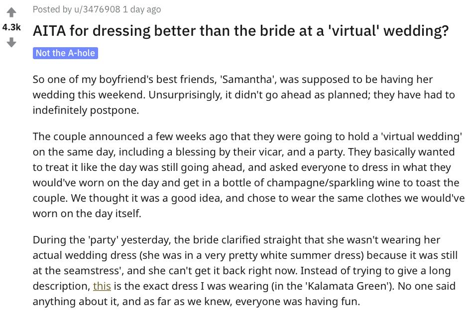 virtual wedding, zoom wedding, virtual wedding dress, zoom wedding dress