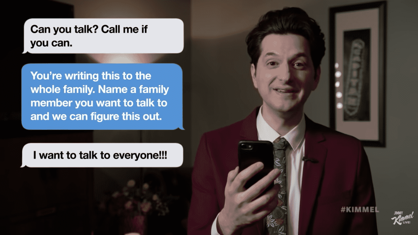 celebrities read mom texts jimmy kimmel, celebrities read mom texts, celebrity mom texts