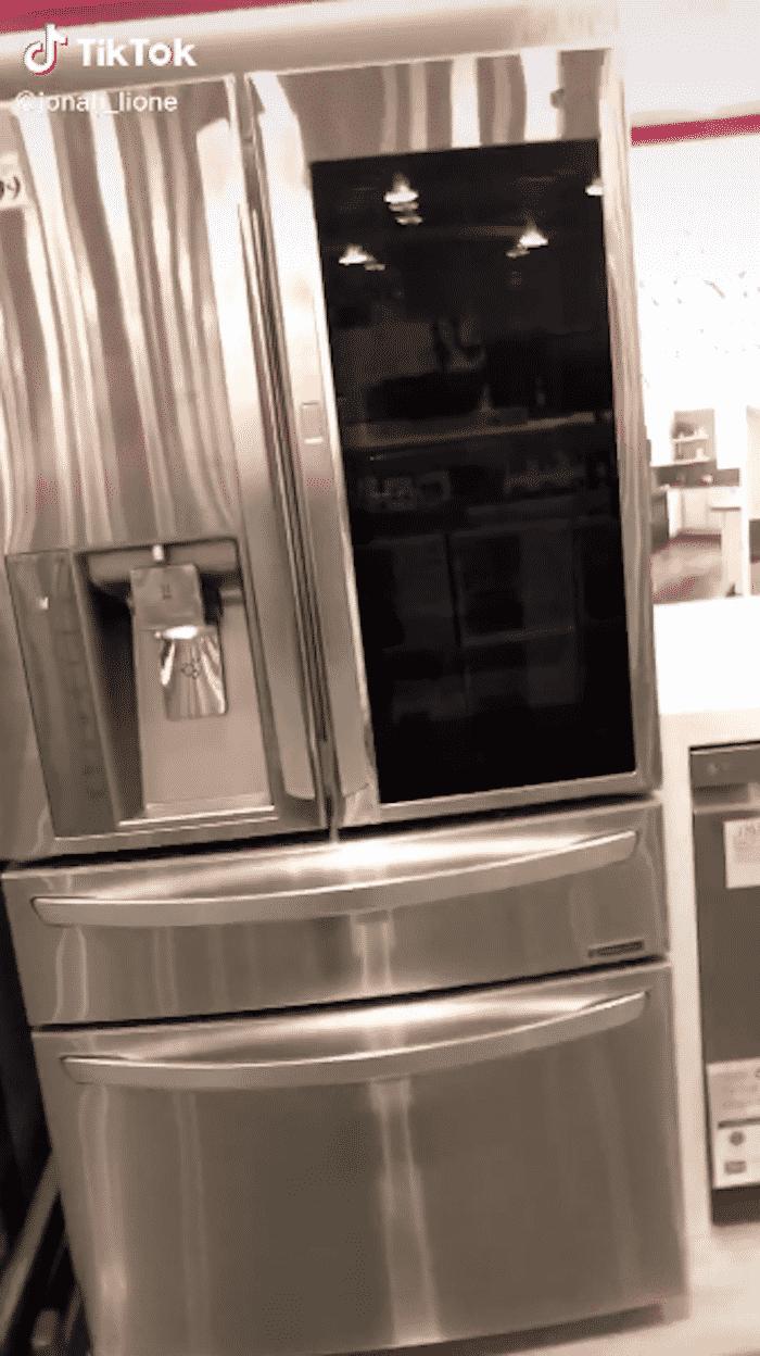 tiktok fridge, tik tok refrigerator