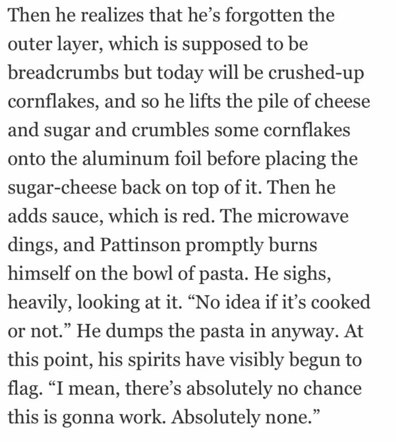 robert pattinson pasta meme, robert pattinson pasta, robert pattinson making pasta, robert pattinson pasta recipe