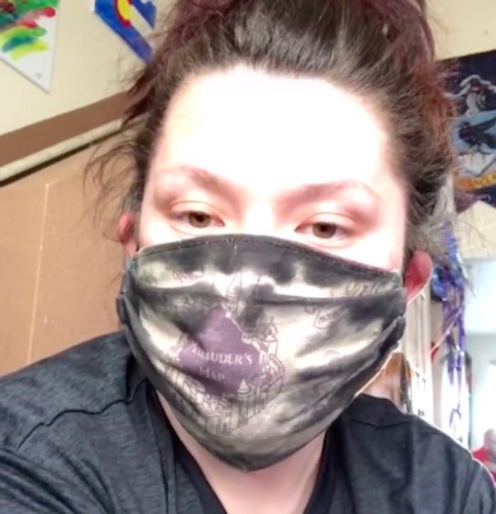 marauders map mask, marauders map face mask