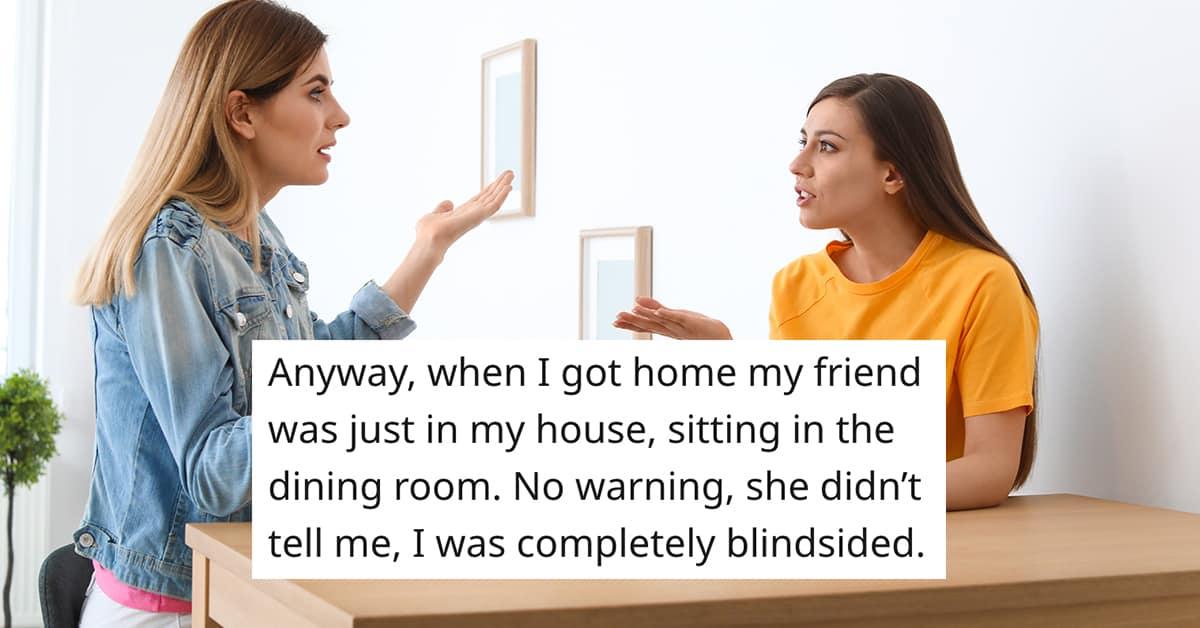 snooping friend