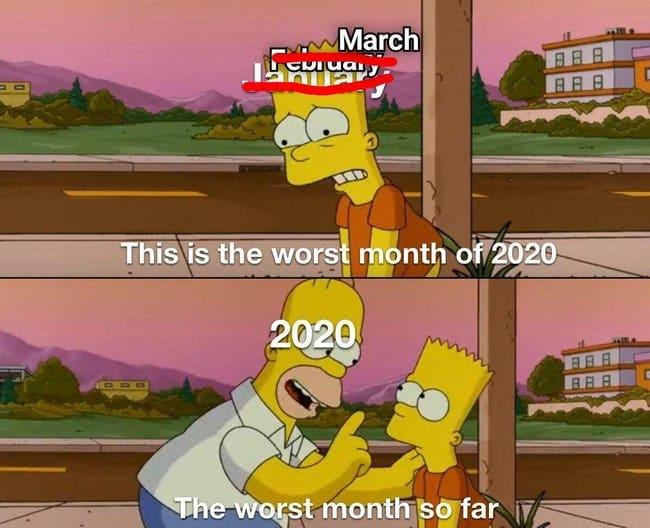 worst month 2020 meme, worst month so far 2020 meme