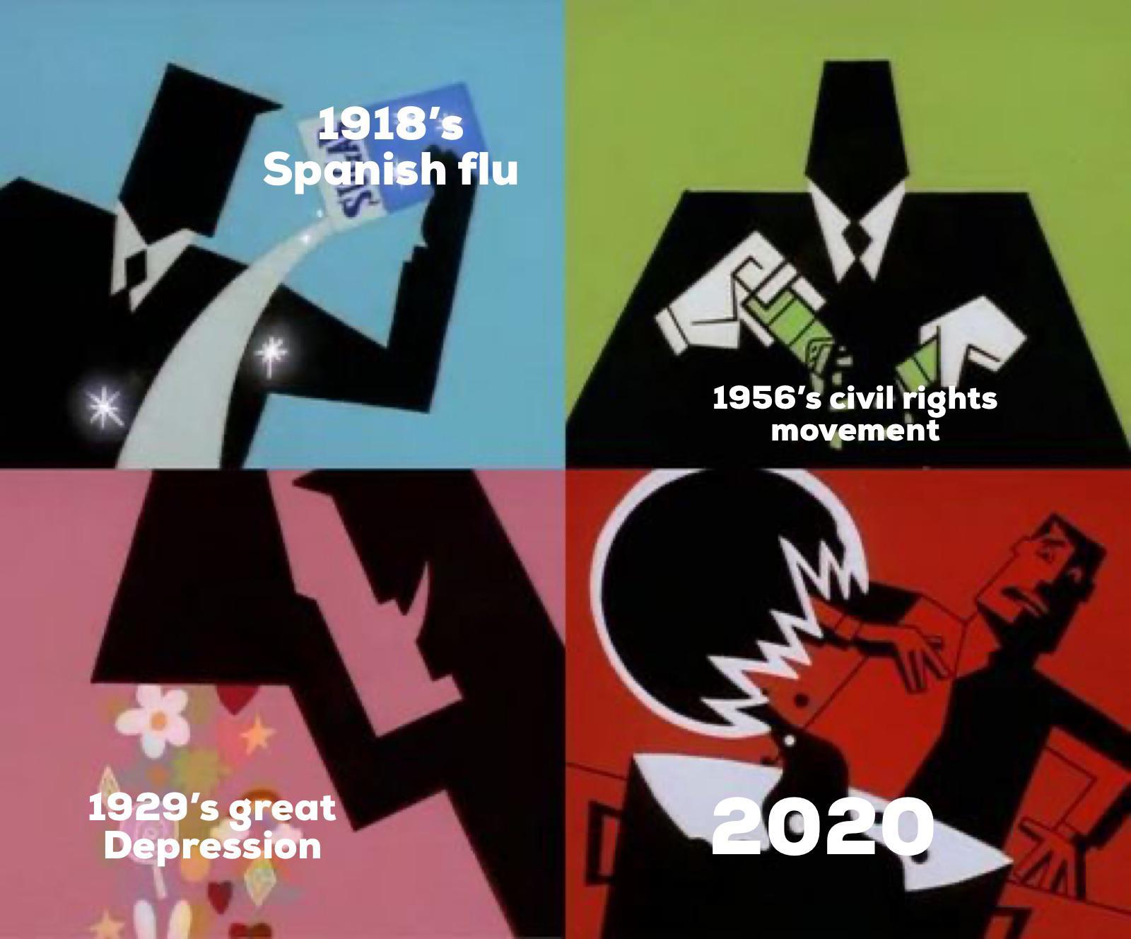 past world issues vs 2020 meme