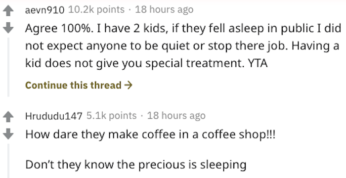 aita baby coffee shop, aita mom brings baby to coffee shop and expects baristas not to work, aita entitled mother, entitled mother, entitled mother reddit, entitled mom, entitled mom reddit, aita mom angry at barista for waking baby, aita barista wakes baby, aita yells at barista, aita barista baby, aita barista doing job mom expects them to be quiet, aita lady yells at barista, aita yelling at barista