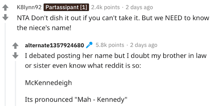 aita called baby name stupid, aita baby name, aita mckennedeigh, aita called niece's name stupid, aita called niece name stupid, reddit called baby name stupid, reddit called niece's name stupid, reddit called niece name stupid, reddit called nieces name stupid