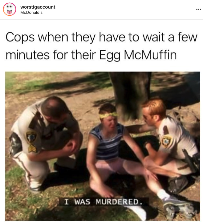 crying cop mcmuffin, crying cop mcdonalds, cop crying mcmuffin, cop crying over mcmuffin, cop crying over mcdonalds