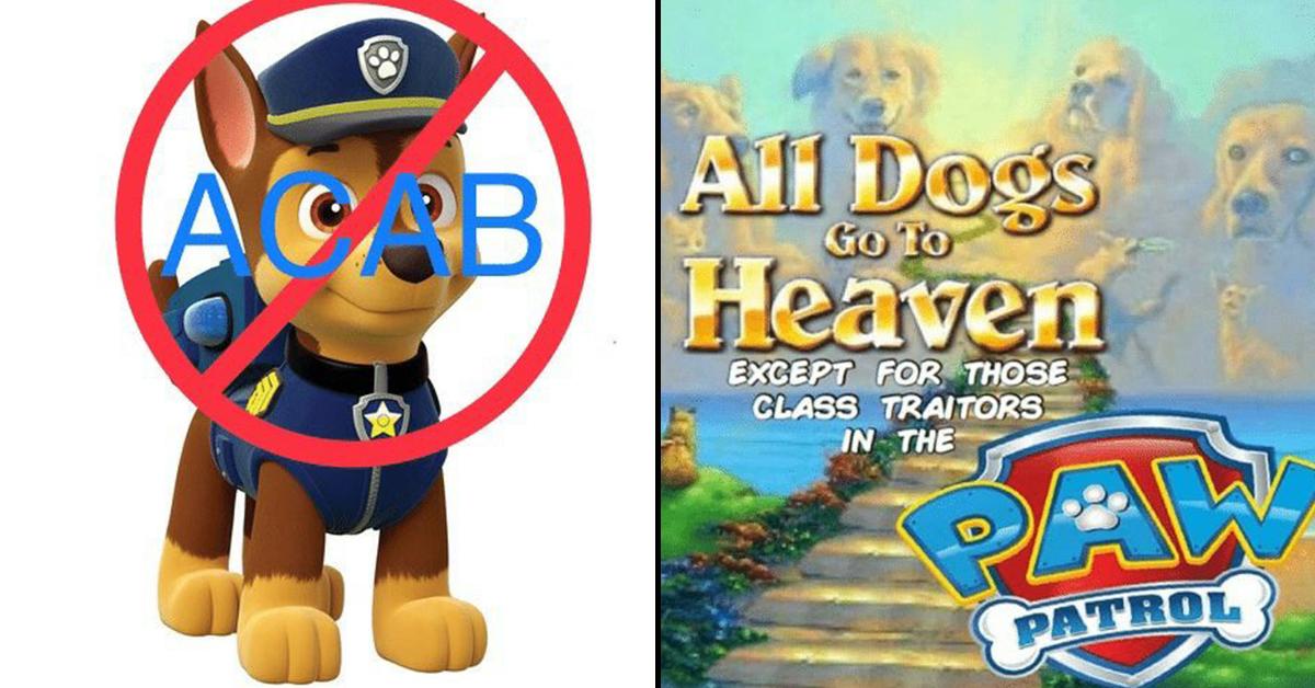 paw patrol acab, paw patrol and blm, paw patrol blm, paw patrol black lives matter,