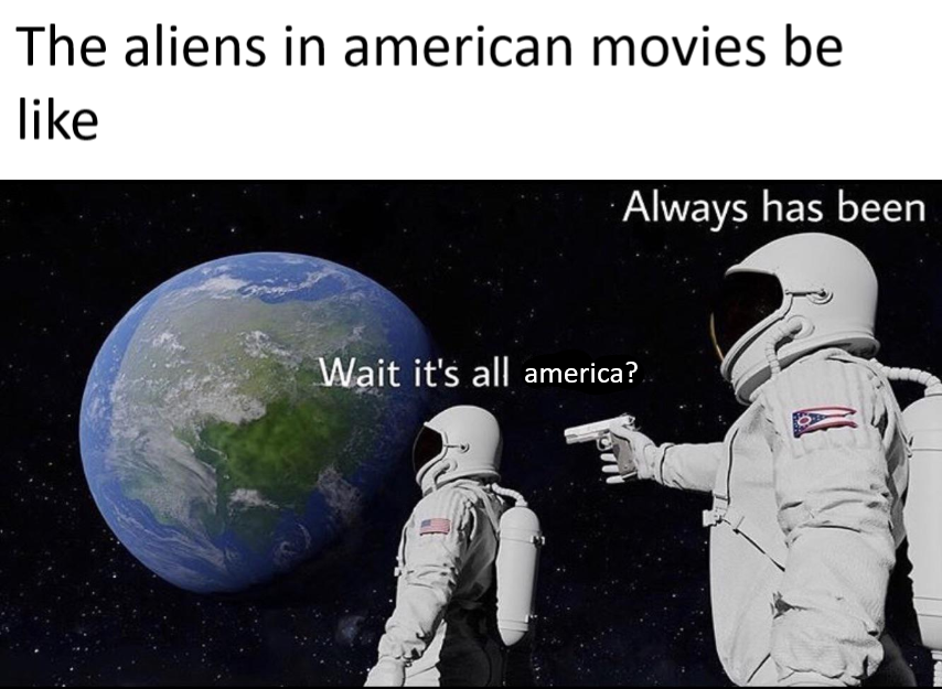 its all america meme, its all america astronaut meme