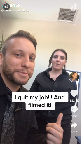 man quits job tiktok