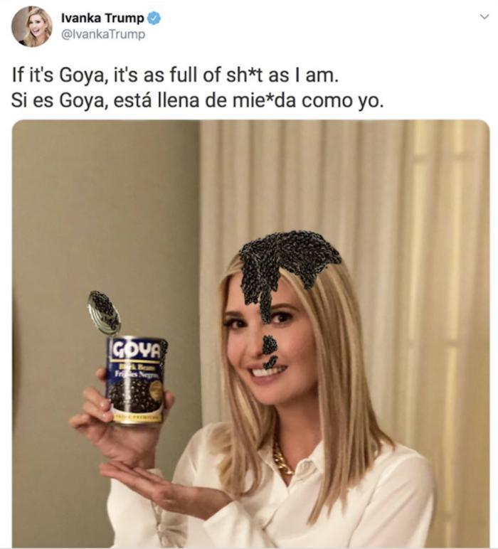 ivanka trump meme, ivanka trump memes, ivanka trump goya meme, ivanka trump goya memes, goya trump meme, goya trump memes, ivanka trump goya, ivanka trump goya beans