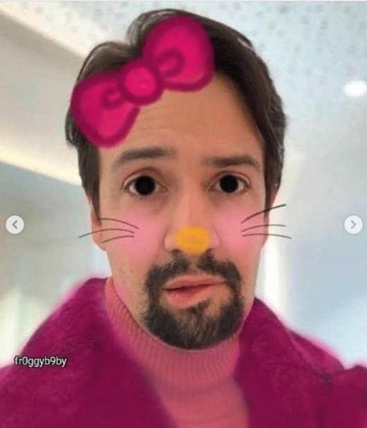 lin manuel miranda lip bite, lin manuel miranda lip bite selfie