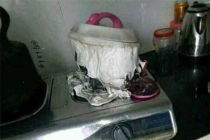 stove fail, melted pot, melted pot fail, cooking fail, kitchen fail, cooking fails, kitchen fails, stove fails