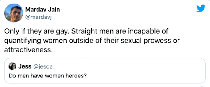dumb comment man made about women heroes