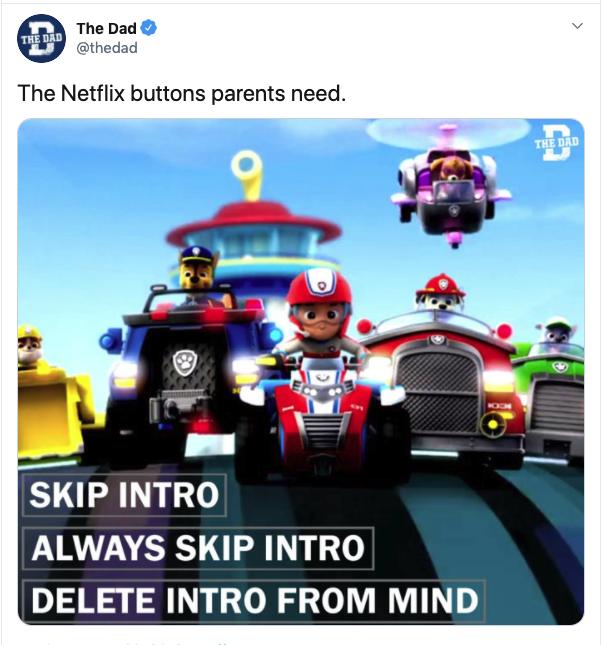 funny netflix buttons parents need tweet