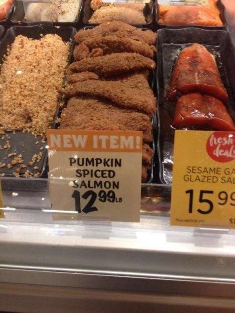 funny pumpkin spice salmon meme, pumpkin spice salmon, pumpkin spice salmon meme, funny salmon pumpkin spice meme, salmon pumpkin spice meme