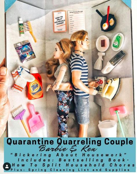 quarreling ken and barbie, quarantine ken and barbie