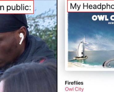 my headphones meme, me in public vs my headphones