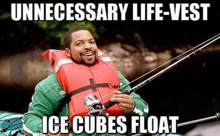 ice cube science meme, funny life vest ice cube science meme, ice cube life vest science meme