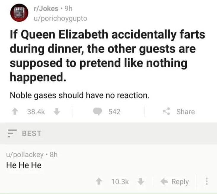 noble gas science meme, funny noble gas science meme, noble gas farting science meme