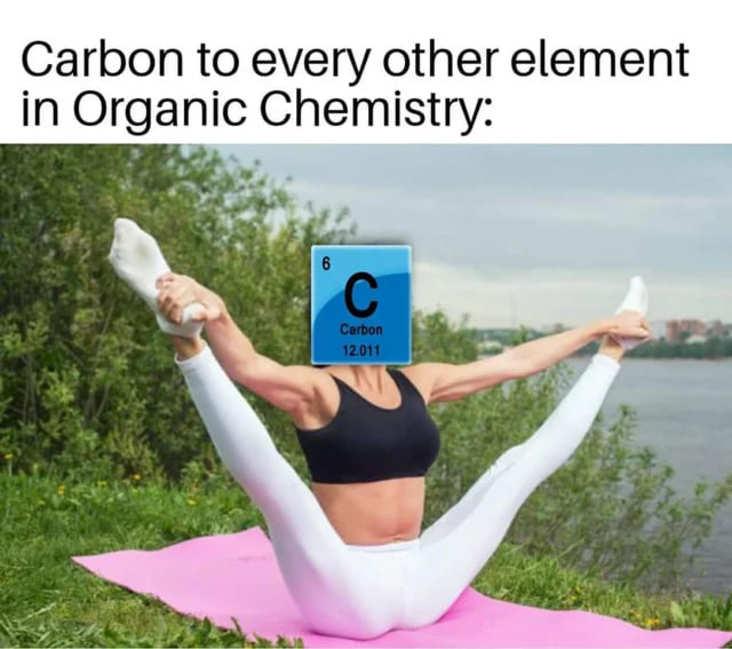 promiscuous carbon science meme, funny carbon every other element science meme, funny carbon science meme, carbon and other elements science meme, science meme, science memes, funny science meme, funny science memes, meme science, memes science, meme about science, memes about science, science related meme, science related memes, nerdy science meme, nerdy science memes, funny nerdy meme, funny nerdy memes, nerdy meme, nerdy memes, science joke, sciences jokes, joke about science, jokes about science, science joke meme, science joke memes