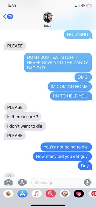 Woman Shares Texts From 12-YO Brother Who Ate Weed Edibles 12