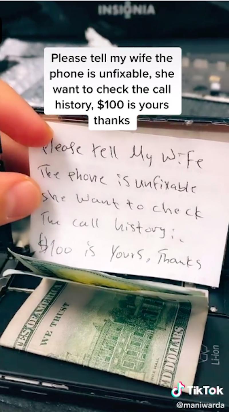Man Tries To Sneak iPhone Repairman Money To Hide His Cheating 10