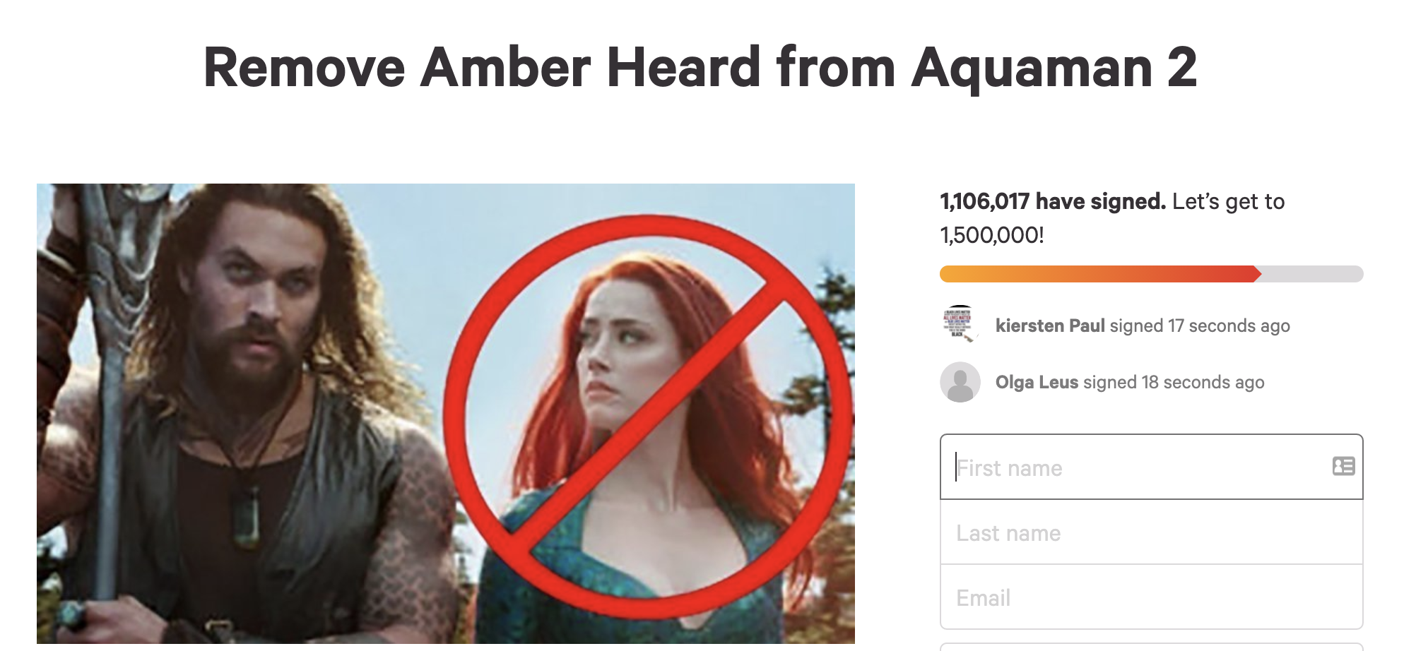 """Angry Johnny Depp Fans Petition For Amber Heard To Be Removed From """"Aquaman 2"""" 3"""