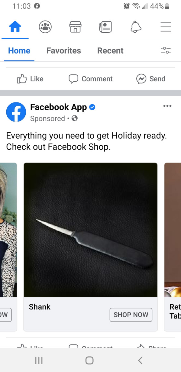 a shank for sale on the marketplace with text above saying get holiday ready, Funny Facebook status
