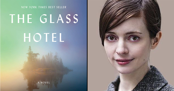 The best books of 2020 and all-time emily st. john mandel author photo next to the cover for the glass hotel