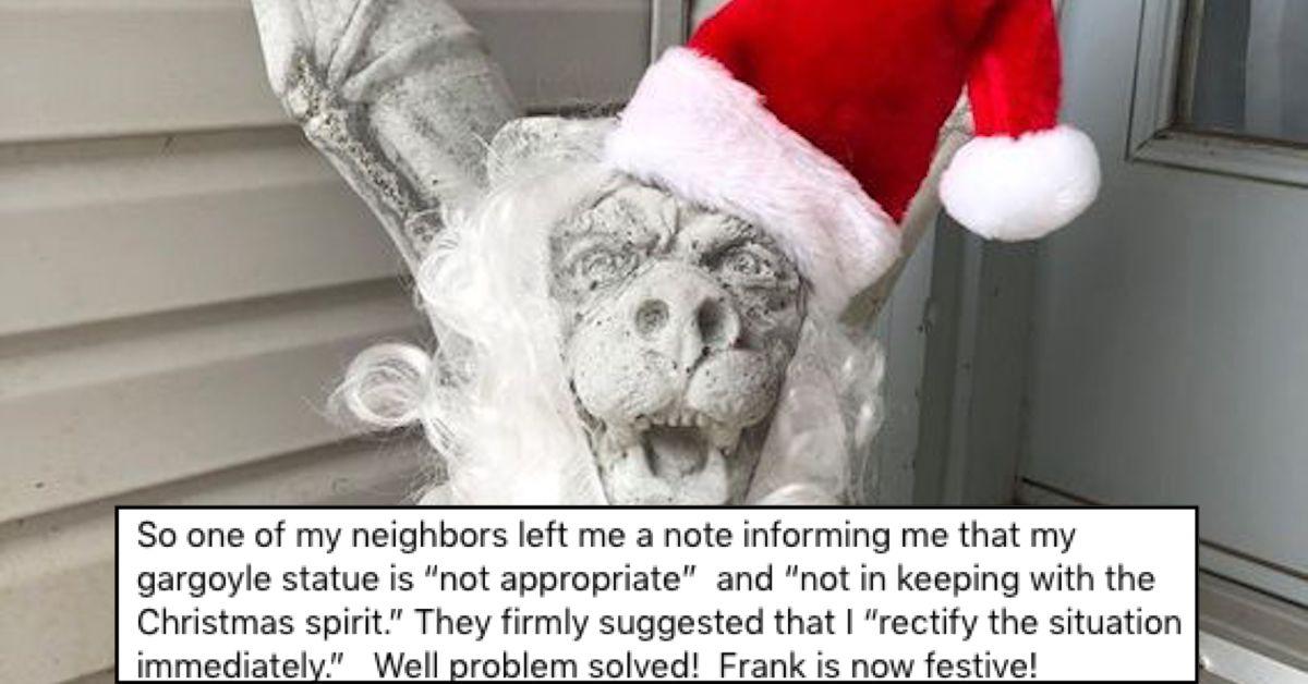 christmas 2020, frank the christmas gargoyle, frank the festive gargoyle, christmas gargoyle
