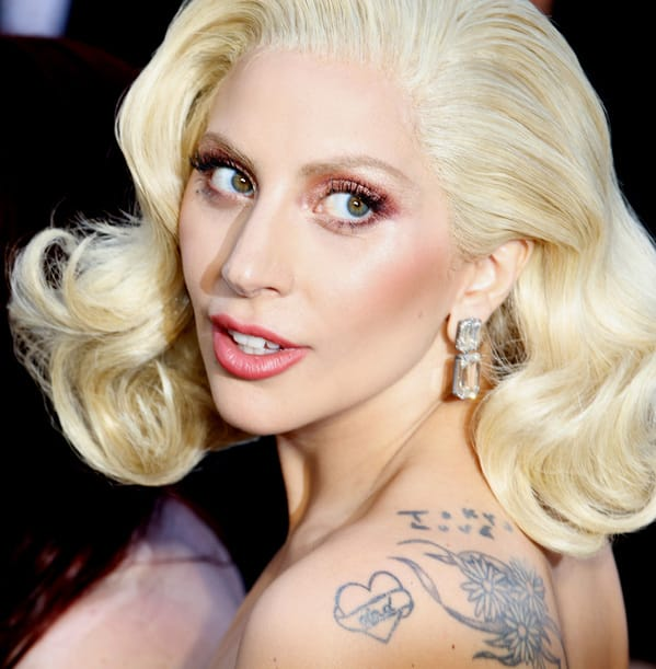 lady gaga, tattoo red carpet, Celebrity weird facts, strange true stories about celebs, celeb facts that will make you rethink them forever