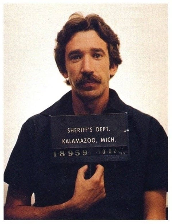 Celebrity weird facts, strange true stories about celebs, celeb facts that will make you rethink them forever, tim allen drug charge mugshot