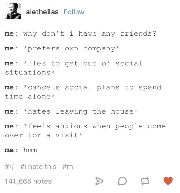 why don't i have any friends introvert meme