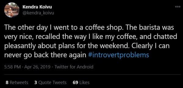 coffee shop introvert meme