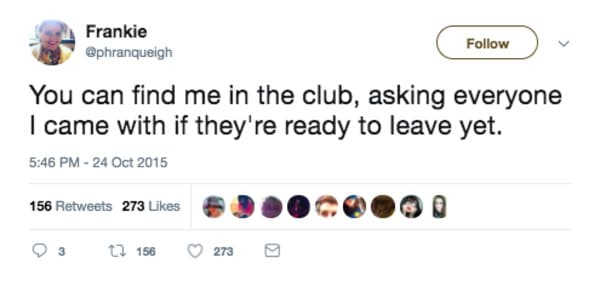 you can find me in the club introvert meme