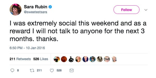 i was extremely social this weekend introvert meme