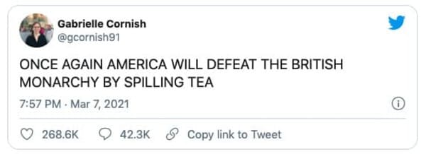 once again america will defeat the british monarchy by spilling tea tweet oprah meghan markle