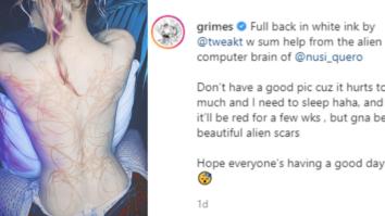 grimes back tattoo, grimes tattoo